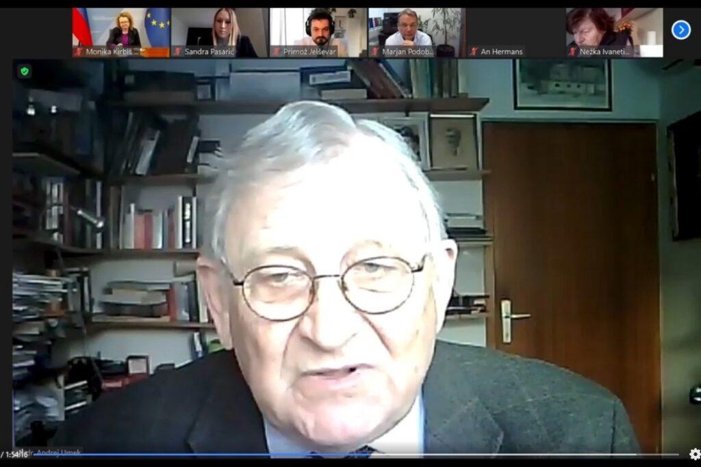 Prof. dr. Andrej Umek, predsednik sveta INAK. Vir slike: Posnetek zaslona INAK.