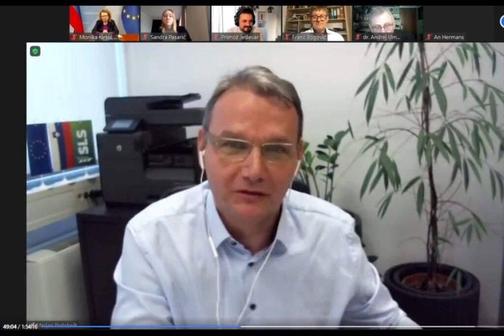 Marjan Podobnik, predsednik SLS. Vir slike: Posnetek zaslona INAK.